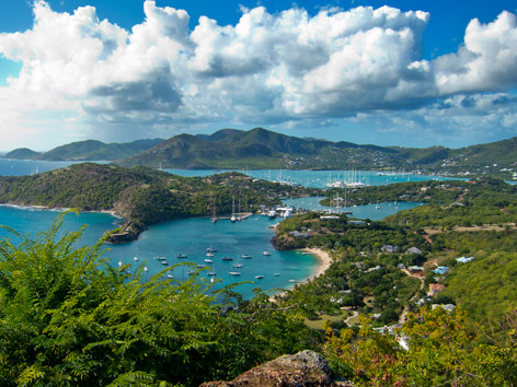 View from Shirley Heights over English Harbour, Antigua