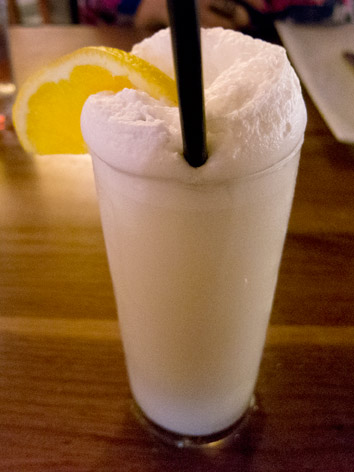 Ramos gin fizz from New Orleans