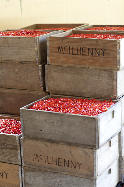 Tabasco pepper crates for McIlhenny Company