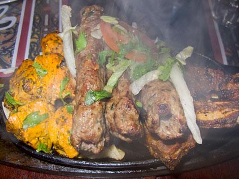 Pakistani meat platter from Tayyabs in London