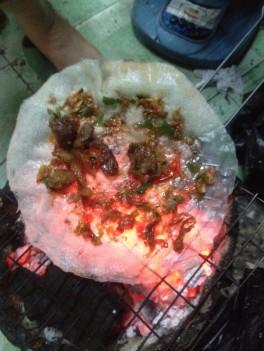 Vietnamese pizza from Ho Chi Minh City