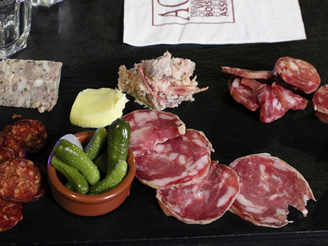 Charcuterie plate from Avignon, France