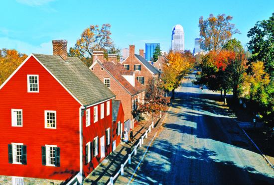 Winston-Salem skyline in North Carolina