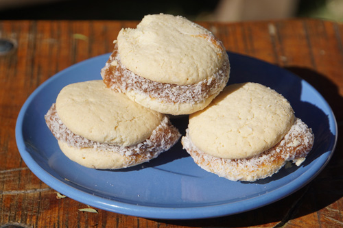 Alfajores, or cookies, from a bakery in Mendoza, Argentina