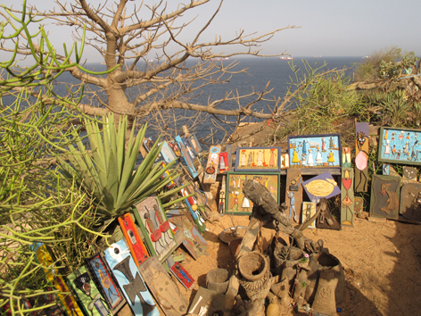 Art on Ile de Goree, an island off Dakar, Senegal best known for its slave history