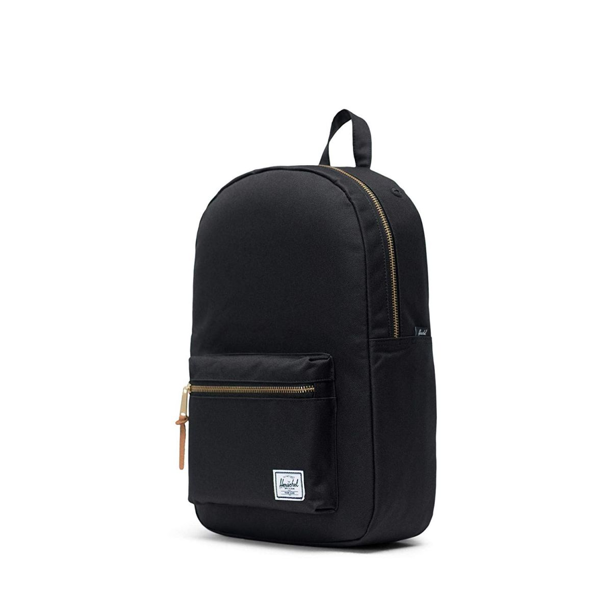 A black Herschel Supply Co. backpack