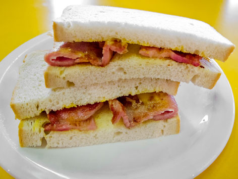 Bacon butty sandwich from London