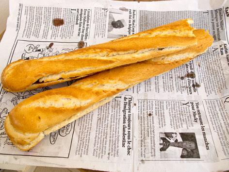 Baguette breakfast sandwiches, street food in Dakar, Senegal