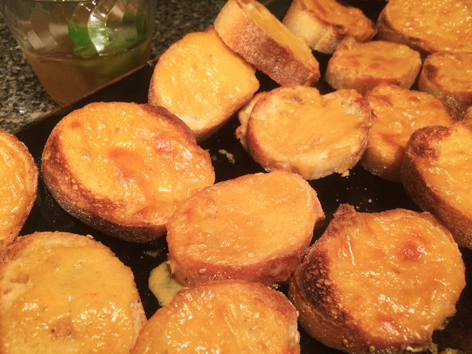 Homemade Kentucky beer cheese on toast