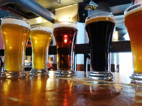 A sample of beer from the Dieu du Ciel! brewpub in Montreal