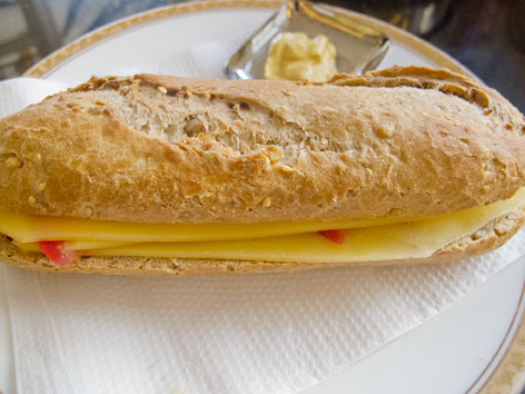 A Dutch broodje, or sandwich, from an Amsterdam bakery