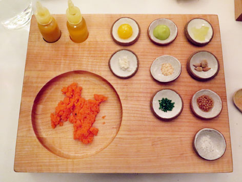 Carrot tartare from Eleven Madison Park in New York