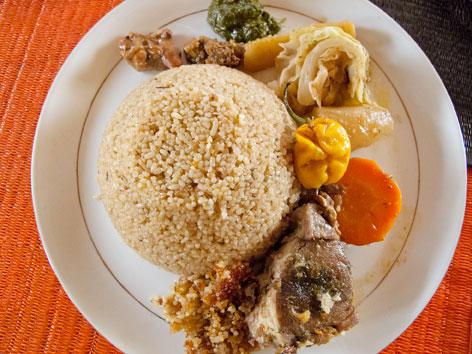 Ceebu jen, from restaurant in Dakar, Senegal