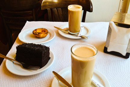 Coffee and cake in Portugal