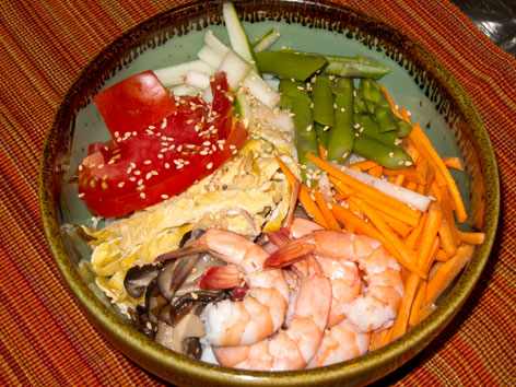 Hiyashi-Chuka/Reimen with recipe, from Japan