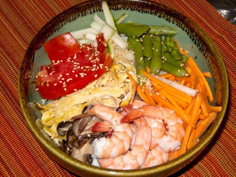 Hiyashi-Chuka/Reimen with recipe, from Japan