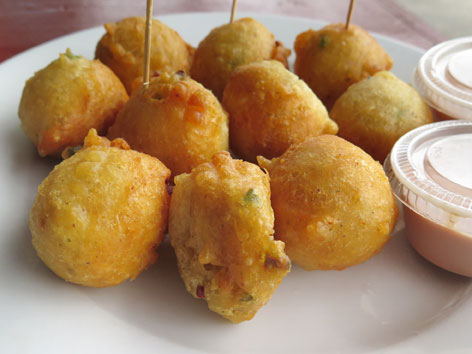 Conch fritters in the Bahamas