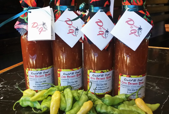 Datil pepper hot sauces from St. Augustine, Florida