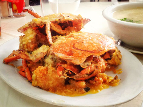 Fried crab dish from Seng Cheong, Macau