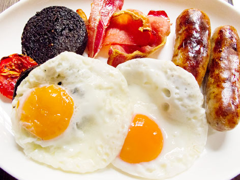 Full English breakfast from a London hotel