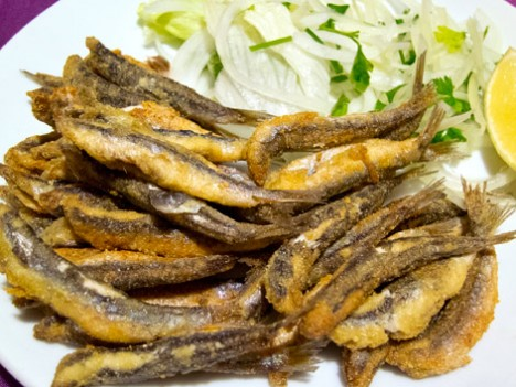 Black Sea anchovy, hamsi tava, from Sinop, Turkey