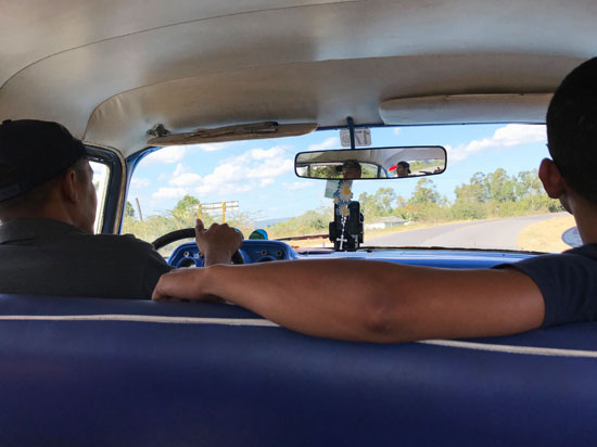 A private taxi driver from Havana en route to Vinales, Cuba.