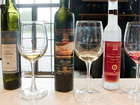 Ice wine tasting at Konzelmann's in Niagara-on-the-Lake, Ontario
