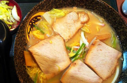 Bowl of tonkotsu pork ramen from Japantown, San Francisco