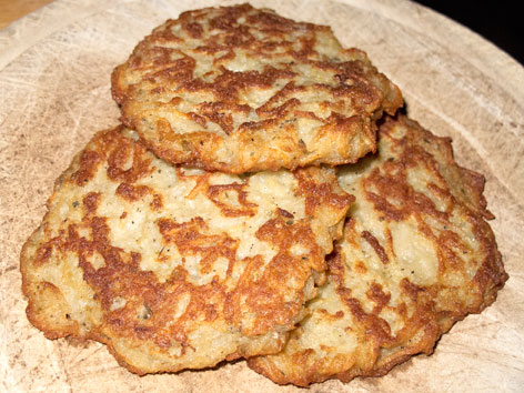 Bramborak are fried potato pancakes, an essential Czech dish to try in Prague.