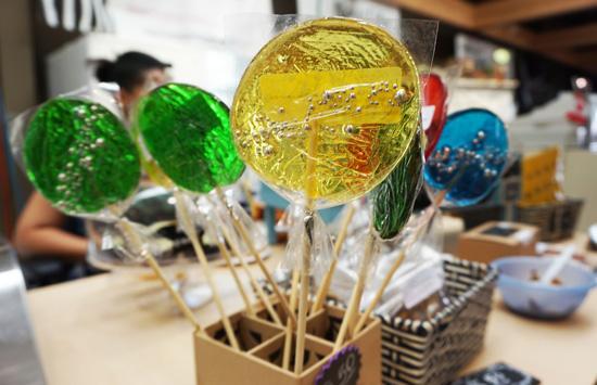 Lollipops at the Saskatoon farmers market.
