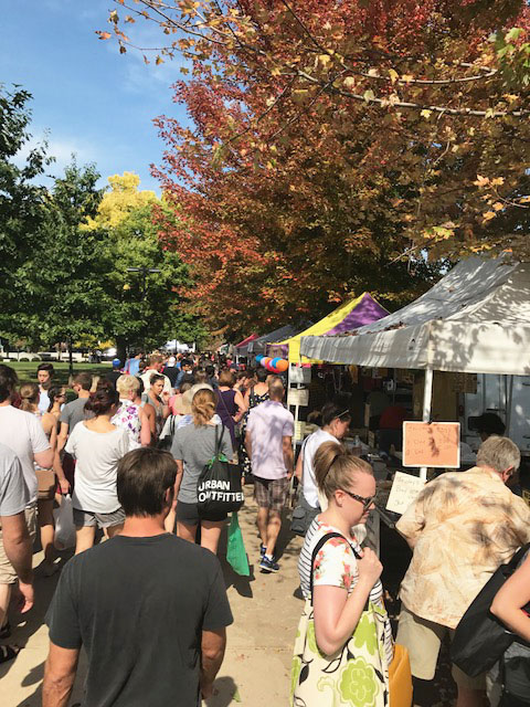 The Dane County Farmers Market in Madison, Wisconsin