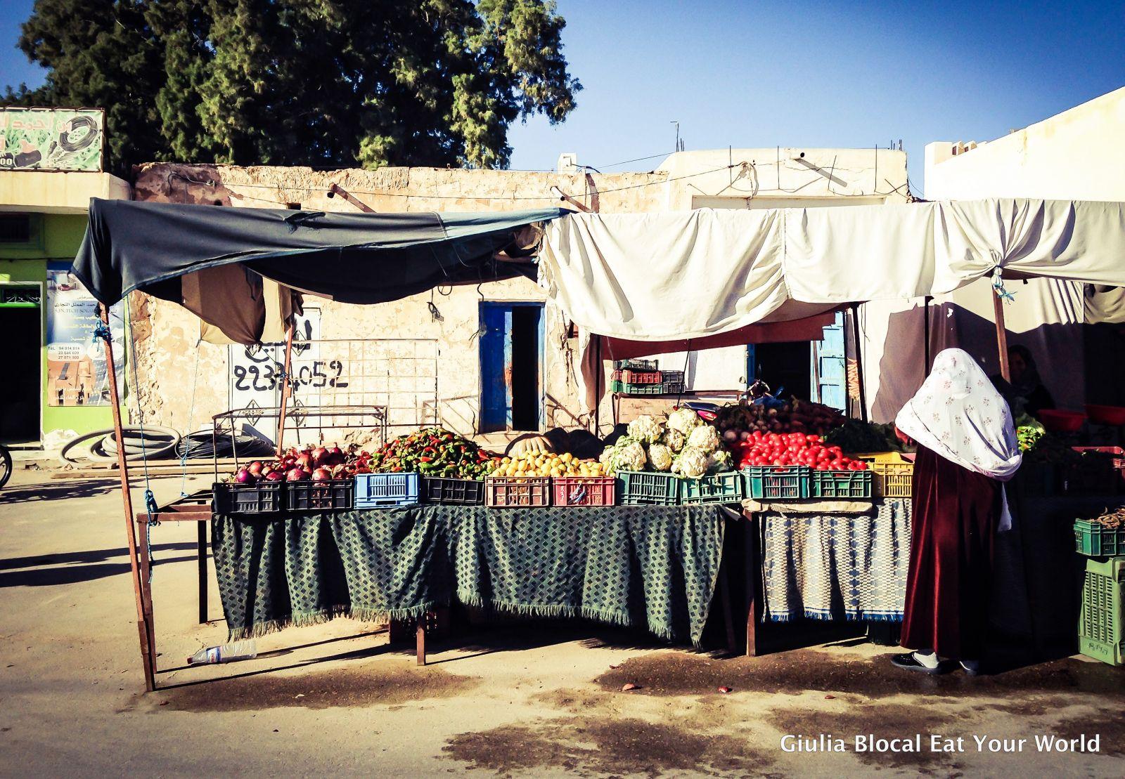 Market scene in Douz, Tunisia