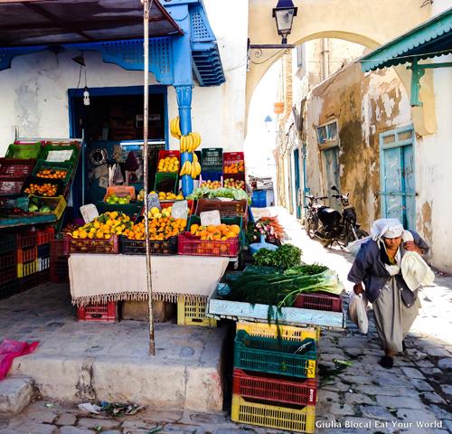 A market scene in Kairouan, Tunisia