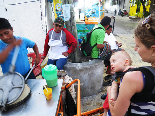 Marquesita vendors on streets of Isla Mujeres