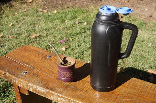 Mate cup and bombilla in Mendoza, Argentina