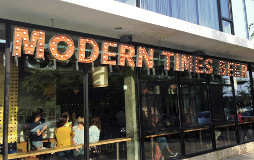 Exterior shot of Modern Times Beer, a San Diego brewery