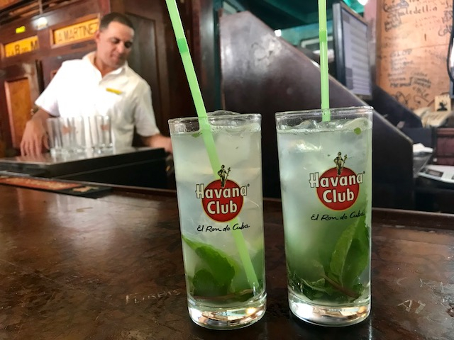 Mojitos in Old Havana at La Bodeguita del Medio