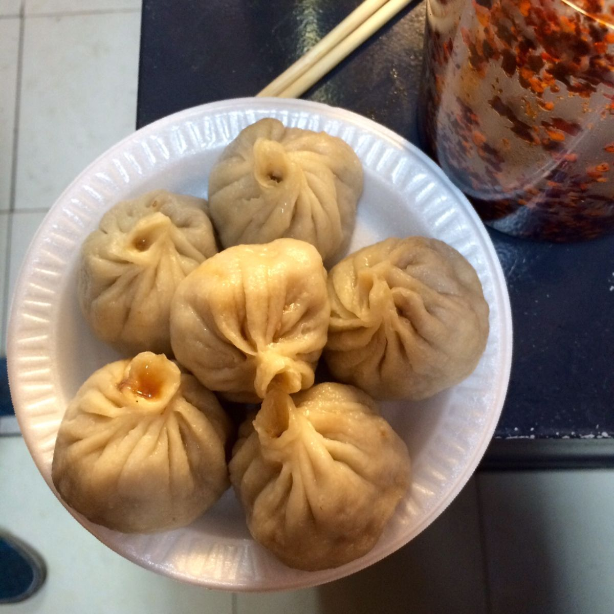 Momos in Jackson Heights, Queens