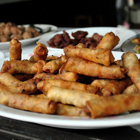 Nem, a spring roll street food in Madagascar