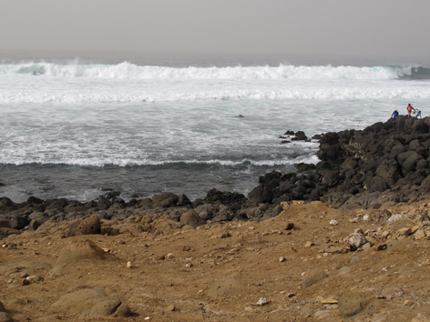 The surf off Ile de N'Gor, an island off Dakar, Senegal
