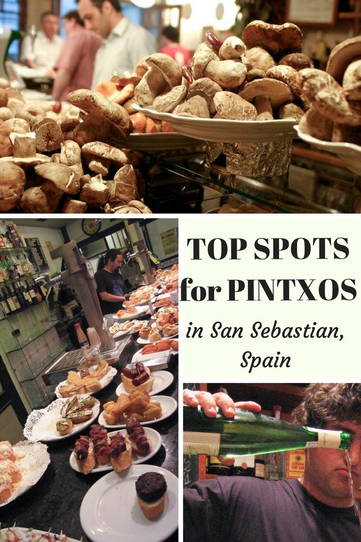 Top spots for pintxos in San Sebastian, Spain