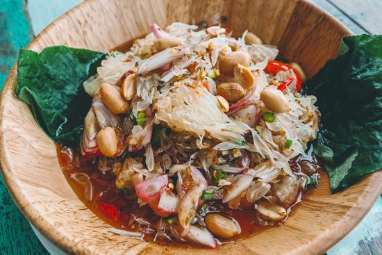 Pomelo salad in Bangkok, Thailand