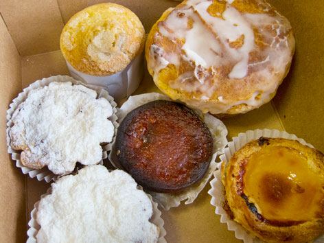 Selection of Portuguese pastries from Barcelos, Fall River, MA