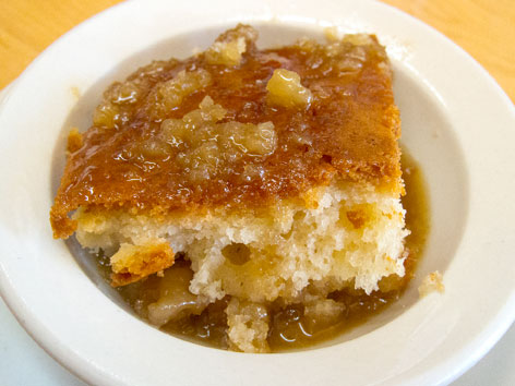 Pouding chomeur, a traditional Quebecois dessert, in Montreal