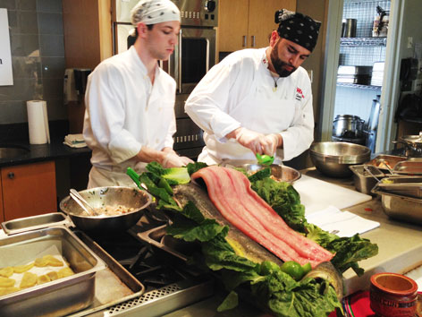 Chef Cesin Curi prepares ceviche for a NYC culinary event