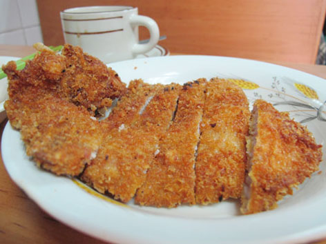 Crispy pork chop at Pui Kei in Macau