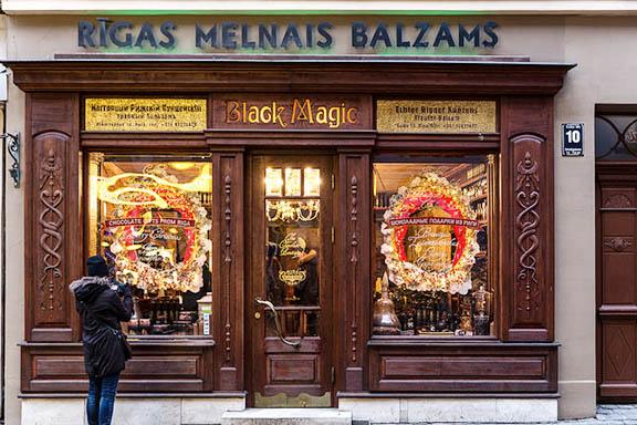 The Riga Black Magic Bar in Latvia, a spot famous for its black balsam, or melnais balzams