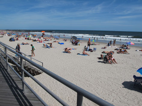 Rockaway beach, Queens, in summer 2011