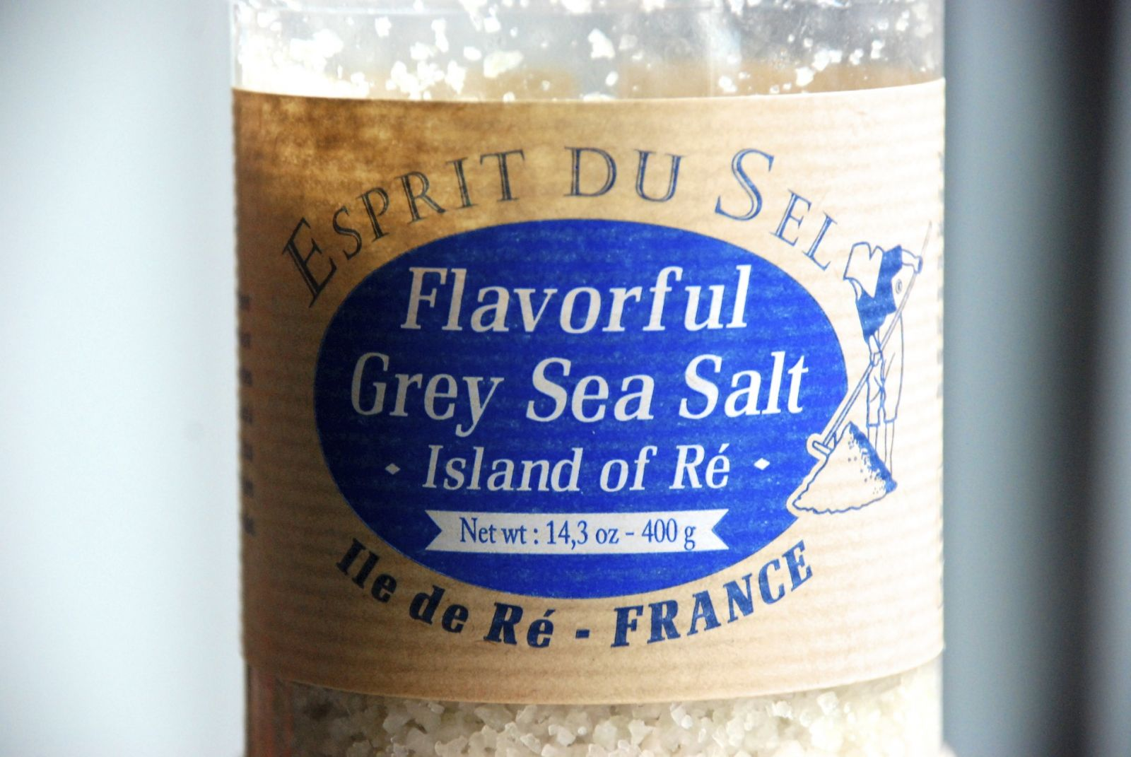Sea salt in a bottle
