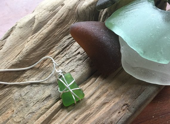 Seaglass pendant necklace from the Jersey Shore
